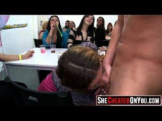 16 Hot Bitches Taking Loads At Cfnm Party! 23