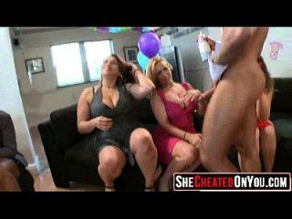 51 Wow! Cheating Milfs Fuck At Stripper Party 13