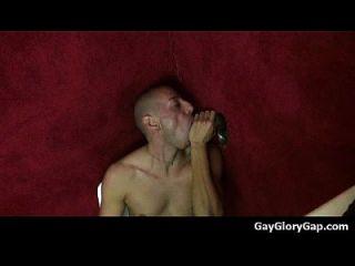 Gloryholes And Handjobs - Gay Wet Blowjobs Through A Hole 04