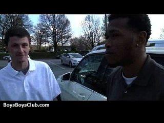 Muscular Black Dudes Fuck Gay White Twink Boys 26