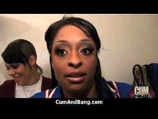 Amazing Ebony In Gangbang Interracial Fucking 25