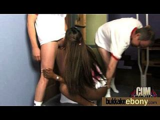 Ebony Babe Sucks Group Of White Guys 11