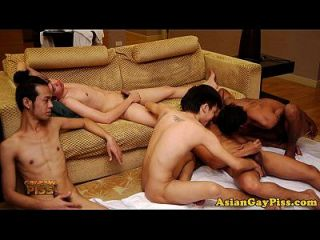 Piss Fetish Asian Dudes Masturbate