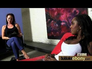 Ebony Gets Group Cumshots 17
