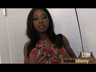 Interracial Bukkake Sex With Black Porn Star 6