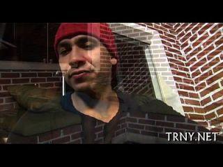 Teen Tranny Loves Huge Schlongs