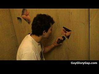 Gloryholes And Handjobs - Gay Wet Blowjobs Through A Hole 21