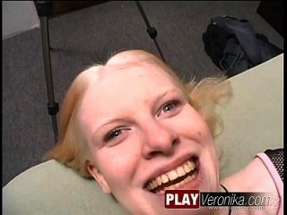 Eye Contact Ice; Blonde, Blowjob, Facial, One On One, Oral Sex, Pov