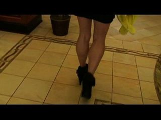 Following Penelope In The Lobby Of The Hilton Garden Inn