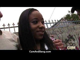 Ebony Slut In An Amazing Gangbang 20