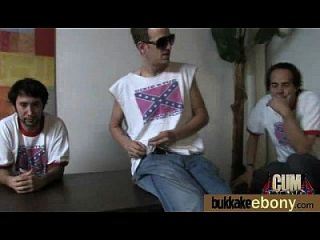 Interracial Bukkake Sex With Black Porn Star 1