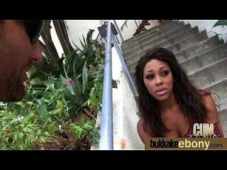 Hot Ebony Chick Love Gangbang Interracial 14