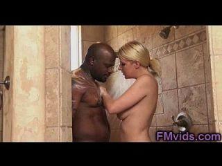 Black On Blonde Under Shower