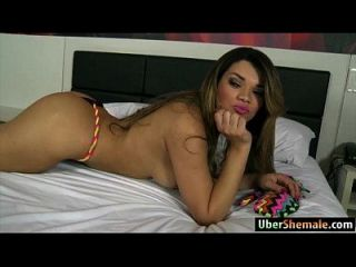 Latina Ts Paulinha Lima Gives Head And Anal Rides A Big Cock