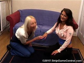 Two Girls Play Strip Rock-paper-scissors