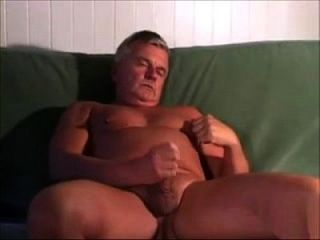Mature Shaved And Hot Nipped Dad Jacks Off