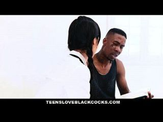 Teensloveblackcocks - Japanese Tutor Gets Drilled By A Big Black Cock