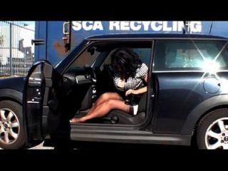 Donna Ambrose Aka Danica Collins Car Tease