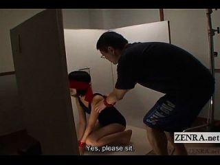 Blindfolded Japanese Women Escorted Into Box Subtitles