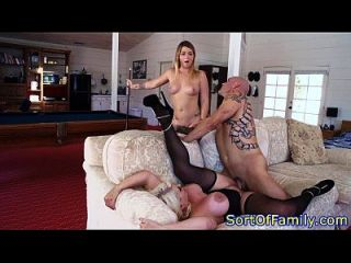 Busty Stepmom Jizzed By Her Stepdaughters Bf