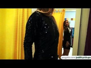 Cute Amateur Blows A Cock And Gets Fucked At The Clothing Store