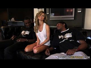 Chloe Chaos Gets Tempted Into Fucking Two Black Studs
