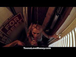 Teenslovemoney - Teen Gets Fucked In Public For Cash