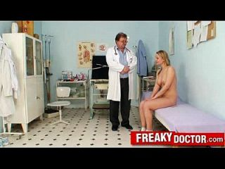 Dirty Gyno Doctor Opens Pussy Of Czech Blonde Samantha Jolie