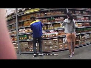 Cameltoe And Flashing In The Supermarket - myfaptime.com