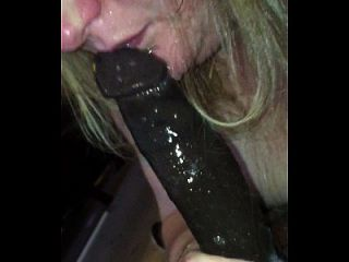 White Girl Gives It Up Crazy On Bbc...mouth Turns Into A Waterfall...must See En