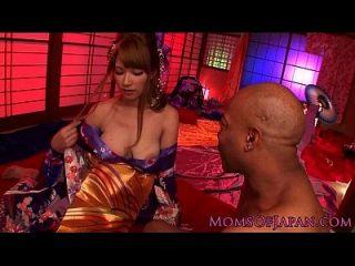 Asian Kimono Milf Loves Bbc Pounding Her