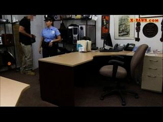 Huge Boobs Police Officer Fucked At The Pawnshop For Money