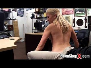 Cute Blonde W/ Thick Legs   Fat Ass Does Strip Dance & More At Pawnshopx.com