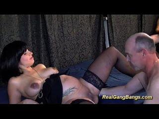 German Pregnant Teen Enjoys Gangbang