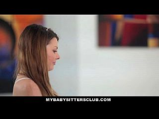 Mybabysittersclub - Young Babysitter Fantasizes About Boss