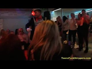Slutty Teens Suck And Fuck Strippers At Cfnm Party