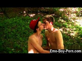 Gay Movie Skylar West Has Been Waiting In The Forest For His Naughty