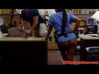 Cash Needing Latina Cop Sucks Pawnbroker