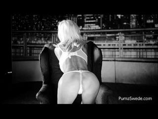 European Blonde Puma Swede Fucks Pussy With Glass Dildo!