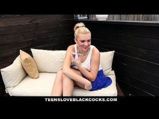 Teensloveblackcocks - Pierced Blonde Loves Big Black Cock