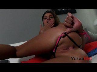 Melena Tara Sexy Strip And Masturbation