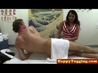 Spycam Asian Masseuse Caught Tugging Cock