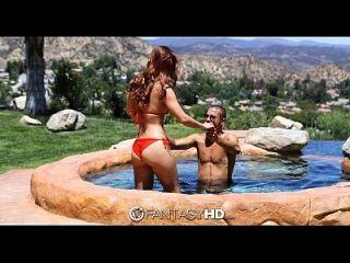 Fantasyhd - Karlie Montana And Danny Fuck By The Pool