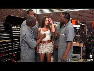 Amirah Adara Sucks An Entire Crew Of Black Guys
