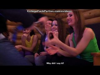 Hot Orgy Students At A Party