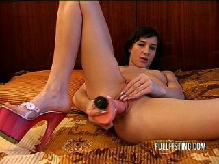 Petite European Teen Gets Her Tight Wet Pussy Fisted