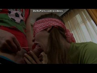 Cute Lovely Girl Licking Lollipop And Cock Before Hard Sex