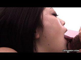 Cute Little Japanese Girl Sucking On A Nice Big Pecker
