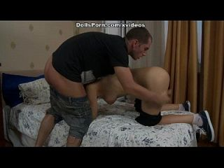 Getting Teen Pussy Worked Up With Sex Toy And Real Piston