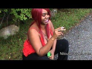 Nilou Achtland-smoking Down Blouse #1